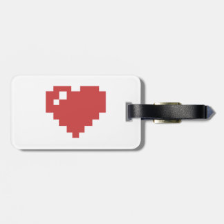 8BIT Heart Baggage tag