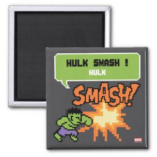 8Bit Hulk Attack - Hulk Smash! Square Magnet