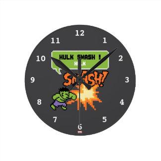 8Bit Hulk Attack - Hulk Smash! Wallclock