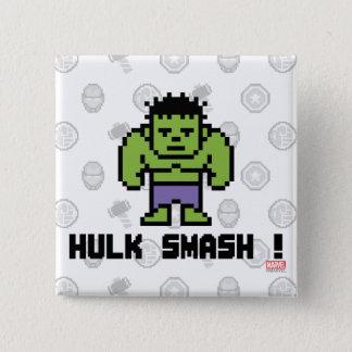 8Bit Hulk - Hulk Smash! 2 Inch Square Button