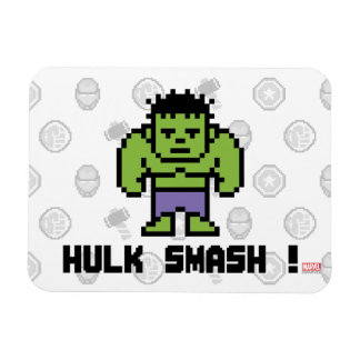 8Bit Hulk - Hulk Smash! Rectangular Photo Magnet