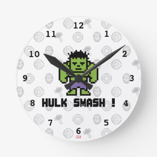 8Bit Hulk - Hulk Smash! Wall Clocks