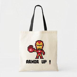 8Bit Iron Man - Armor Up! Budget Tote Bag
