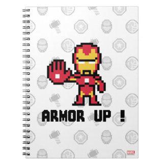 8Bit Iron Man - Armor Up! Notebook