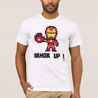 8Bit Iron Man - Armor Up! T-Shirt