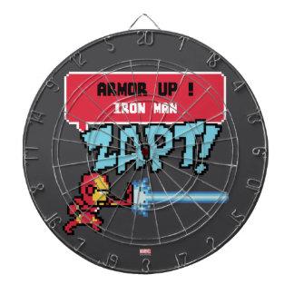 8Bit Iron Man Attack - Armor Up! Dartboard