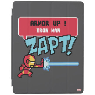 8Bit Iron Man Attack - Armor Up! iPad Cover