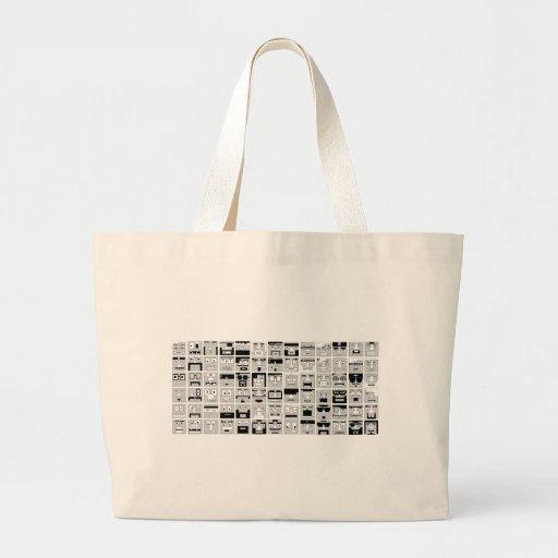 8bit Pixel Characters design Canvas Bags