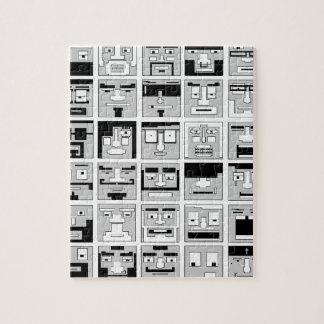 8bit Pixel Characters design Jigsaw Puzzle