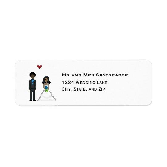 8bit Pixel Gamer Bride & Groom Wedding