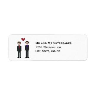 8bit Pixel Gamer Groom & Groom Gay Wedding