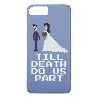 8bit Pixel Geek Gothic Gamer Til Death Do Us Part iPhone 8 Plus/7 Plus Case