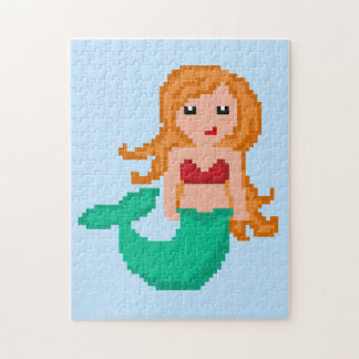 8Bit Pixel Geek Mermaid Jigsaw Puzzle