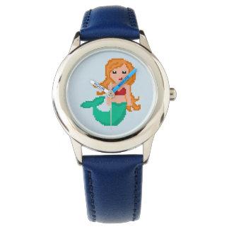 8Bit Pixel Geek Ocean Mermaid Watch