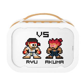 8bit Ryu VS Akuma Lunch Box