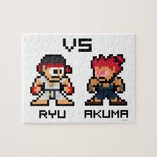 8bit Ryu VS Akuma Puzzle