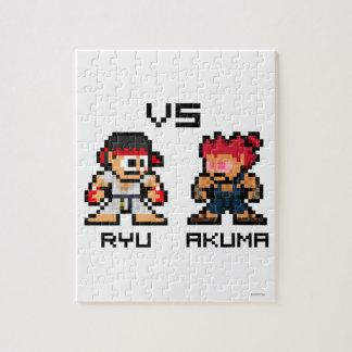 8bit Ryu VS Akuma Puzzles