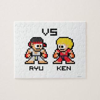 8bit Ryu VS Ken Jigsaw Puzzle