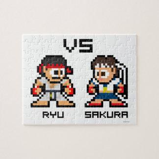 8bit Ryu VS Sakura Puzzle