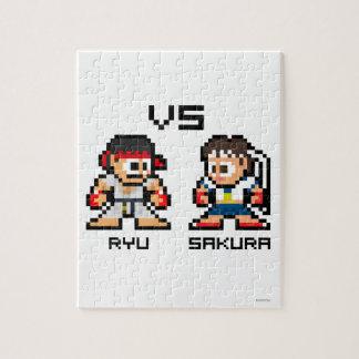 8bit Ryu VS Sakura Puzzles