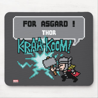 8Bit Thor Attack - For Asgard! Mouse Pad
