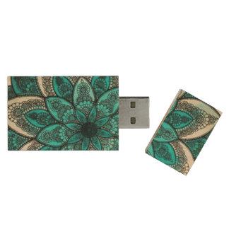 8gb USB flower! Wood USB 2.0 Flash Drive