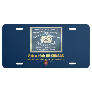8th & 19th Arkansas Infantry (F10) License Plate