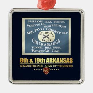 8th & 19th Arkansas Infantry (F10) Metal Ornament