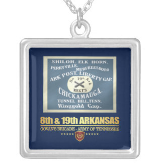 8th & 19th Arkansas Infantry (F10) Silver Plated Necklace