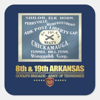 8th & 19th Arkansas Infantry (F10) Square Sticker