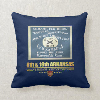 8th & 19th Arkansas Infantry (F10) Throw Pillow