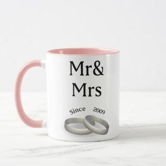8th anniversary matching Mr. And Mrs. Since 2009 Mug
