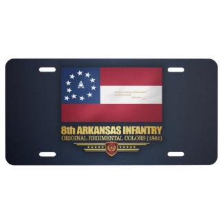 8th Arkansas Infantry (2) License Plate