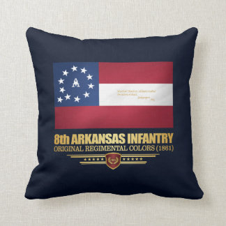 8th Arkansas Infantry (2) Throw Pillow
