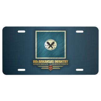 8th Arkansas Infantry License Plate