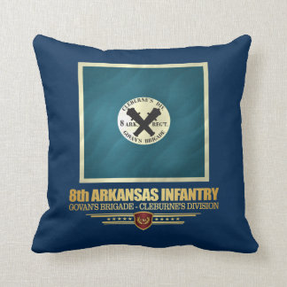 8th Arkansas Infantry Throw Pillow