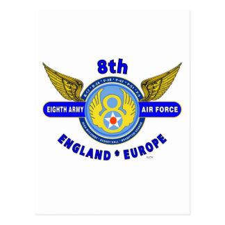 "8TH ARMY AIR FORCE ""ARMY AIR CORPS"" WW II POSTCARD"