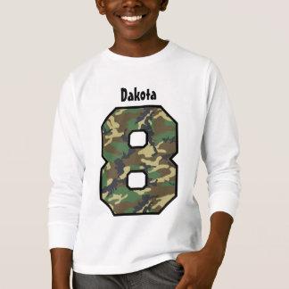 8th Birthday Boy Camo Eight Year Custom Name V04 T-Shirt