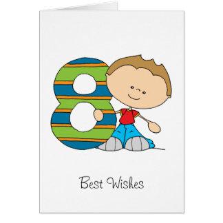 8th Birthday - Greetings card - Boy