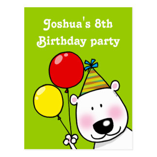 8th birthday party personalized invitations