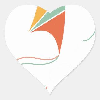 8th February - Kite Flying Day - Appreciation Day Heart Sticker