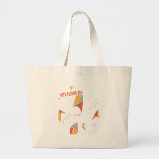8th February - Kite Flying Day - Appreciation Day Large Tote Bag