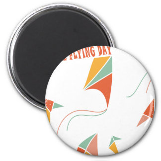 8th February - Kite Flying Day - Appreciation Day Magnet