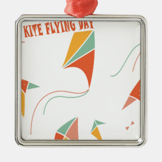 8th February - Kite Flying Day - Appreciation Day Metal Ornament
