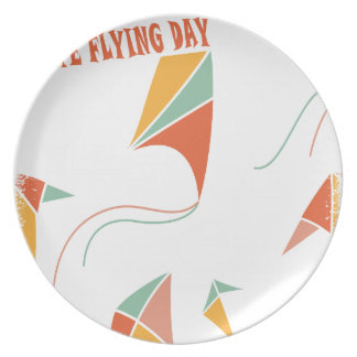 8th February - Kite Flying Day - Appreciation Day Plate