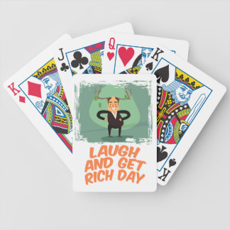 8th February - Laugh And Get Rich Day Bicycle Playing Cards