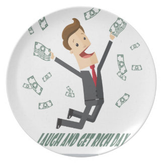 8th February - Laugh And Get Rich Day Plate