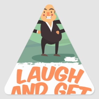 8th February - Laugh And Get Rich Day Triangle Sticker