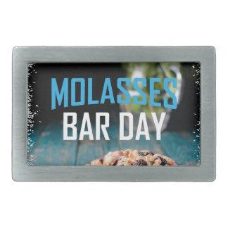 8th February - Molasses Bar Day - Appreciation Day Rectangular Belt Buckle