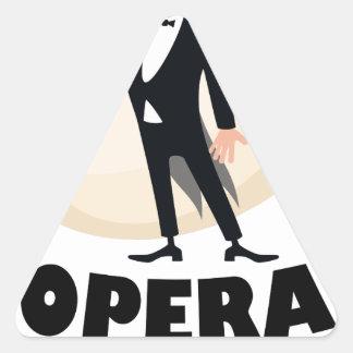 8th February - Opera Day - Appreciation Day Triangle Sticker